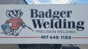Outdoor Sign | Badger Welding Orlando